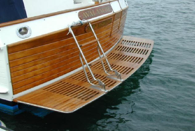 Teak Swim/Dive Platforms - Custom Teak Marine Woodwork