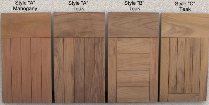 Custom Designed Examples Of Solid Teak Cabinet Doors