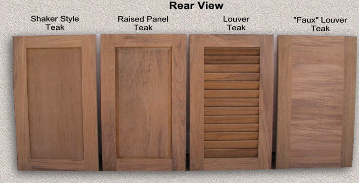 Good Custom Designed Examples Of Solid Teak Cabinet Doors