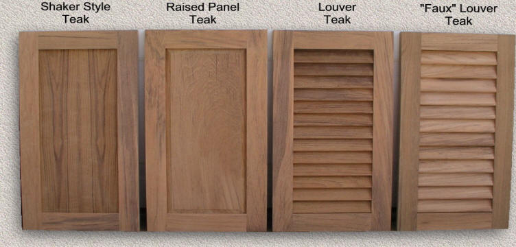 Standard Cabinet Door Styles & Doors Outdoor Kitchen - Custom Teak Marine Woodwork