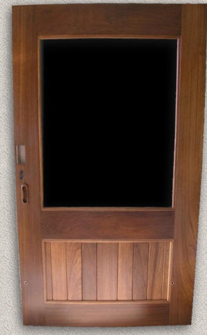 Solid Teak Cockpit Entry Door & Entry Doors - Custom Teak Marine Woodwork