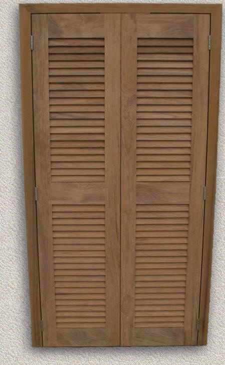 Doors interior custom teak marine woodwork Prehung louvered interior doors