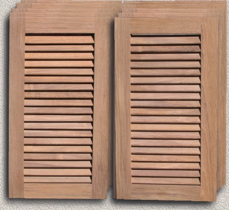 Custom Designed Solid Teak Cabinet Louver Doors  sc 1 st  Custom Teak Marine Woodwork & Outdoor Kitchen Doors