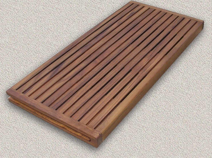 Teak Shower-Steam Bath Seats - Custom Teak Marine Woodwork