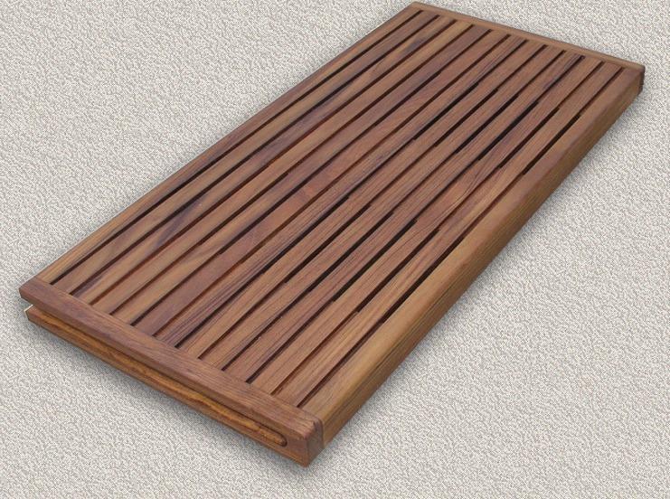 Solid Teak Steam Bath/Shower Seats   W/Folding Wall Bracket