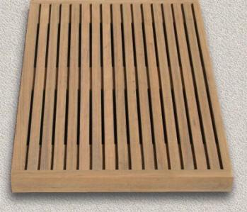 Teak Shower-Steam Bath Seats - Custom Teak Marine Woodwork