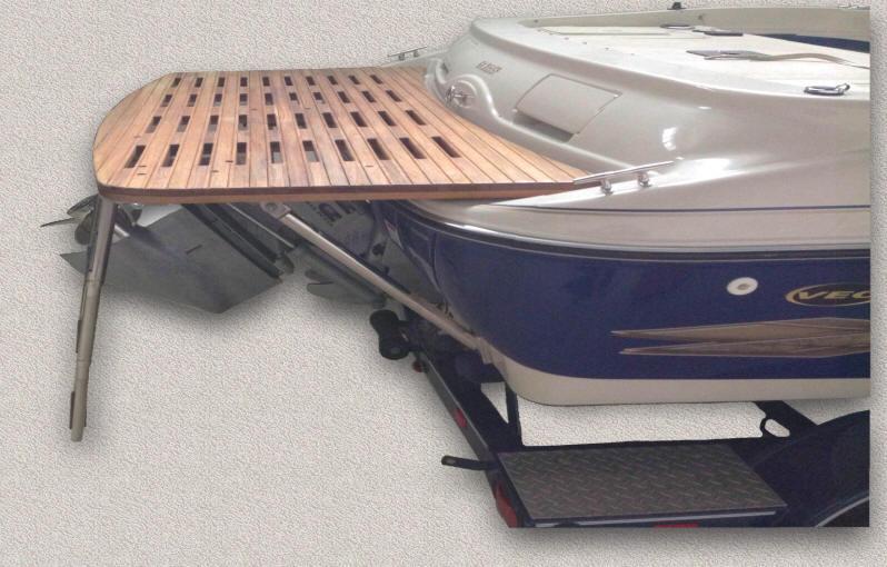Teak Swimdive Platforms Custom Teak Marine Woodwork