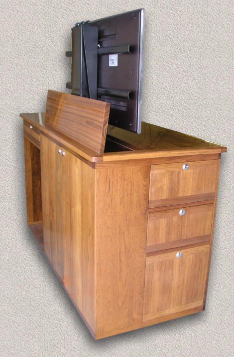 access doors into tv lift mechanism access door to adjustable component shelves semigloss finish on body u0026 high gloss on top tv lift cabinet
