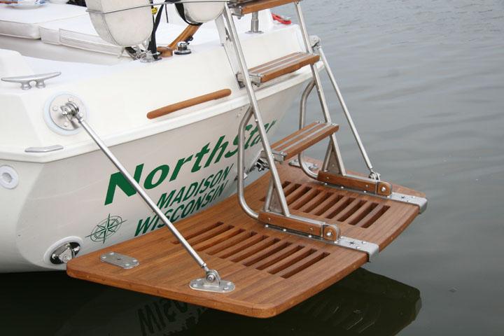 Super Air Nautique Price >> Teak Swim/Dive Platforms - Custom Teak Marine Woodwork