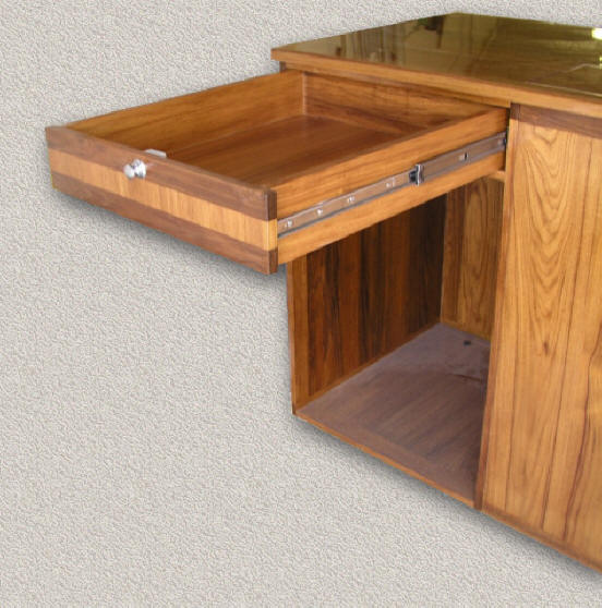 Marine Kitchen Cabinets: Custom Teak Cabinets