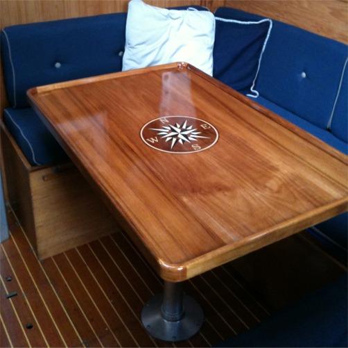 Teak Table Tops - Custom Teak Marine Woodwork